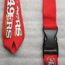 NFL San Francisco 49ers Breakaway Disconnect Football LANYARD ID Key Holder NEW