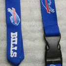 NFL Buffalo Bills Breakaway Disconnect Football LANYARD ID Key Holder NEW