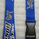 NFL Detroit Lions Breakaway Disconnect Football LANYARD ID Key Holder NEW