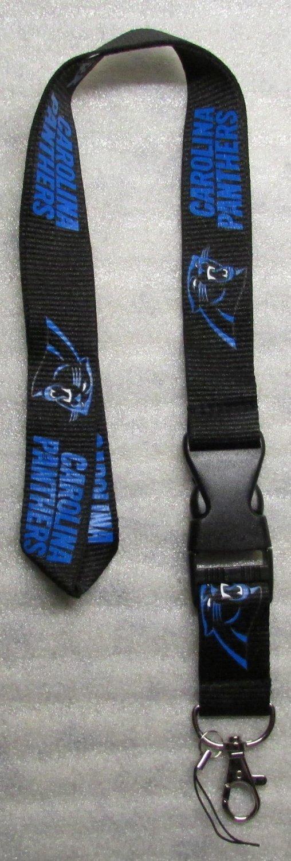 NFL Carolina Panthers Breakaway Disconnect Football LANYARD ID Key Holder NEW