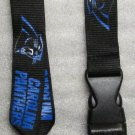 NFL Carolina Panthers Breakaway Disconnect Football LANYARD ID Key Holder NEW