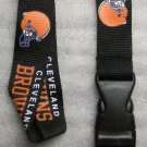 NFL Cleveland Browns Breakaway Disconnect Football LANYARD ID Key Holder NEW
