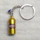 NOS Nitrous Oxide Systems Gold Bottle KEY CHAIN Ring Keychain NEW