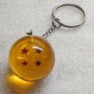 1 Inch DragonBall Z 4 Four Star Crystal Acrylic KEY CHAIN Ring Keychain NEW