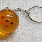 1 Inch DragonBall Z 6 Six Star Crystal Acrylic KEY CHAIN Ring Keychain NEW