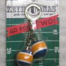 KeyHonas Key Honas Grab em and Go Go for Two KEY CHAIN Ring Keychain NEW