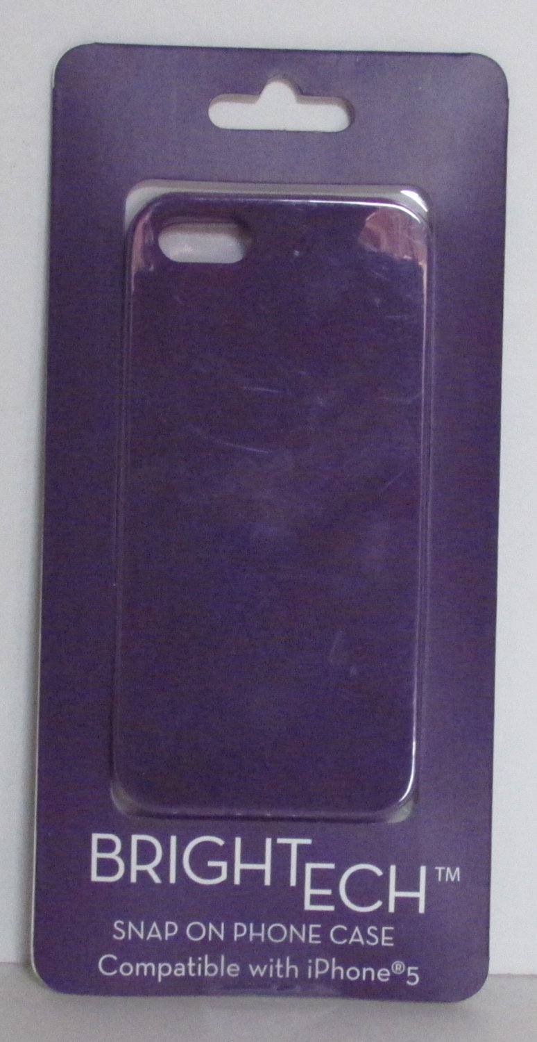BrighTech Snap On iPhone 5 PHONE CASE Purple NEW