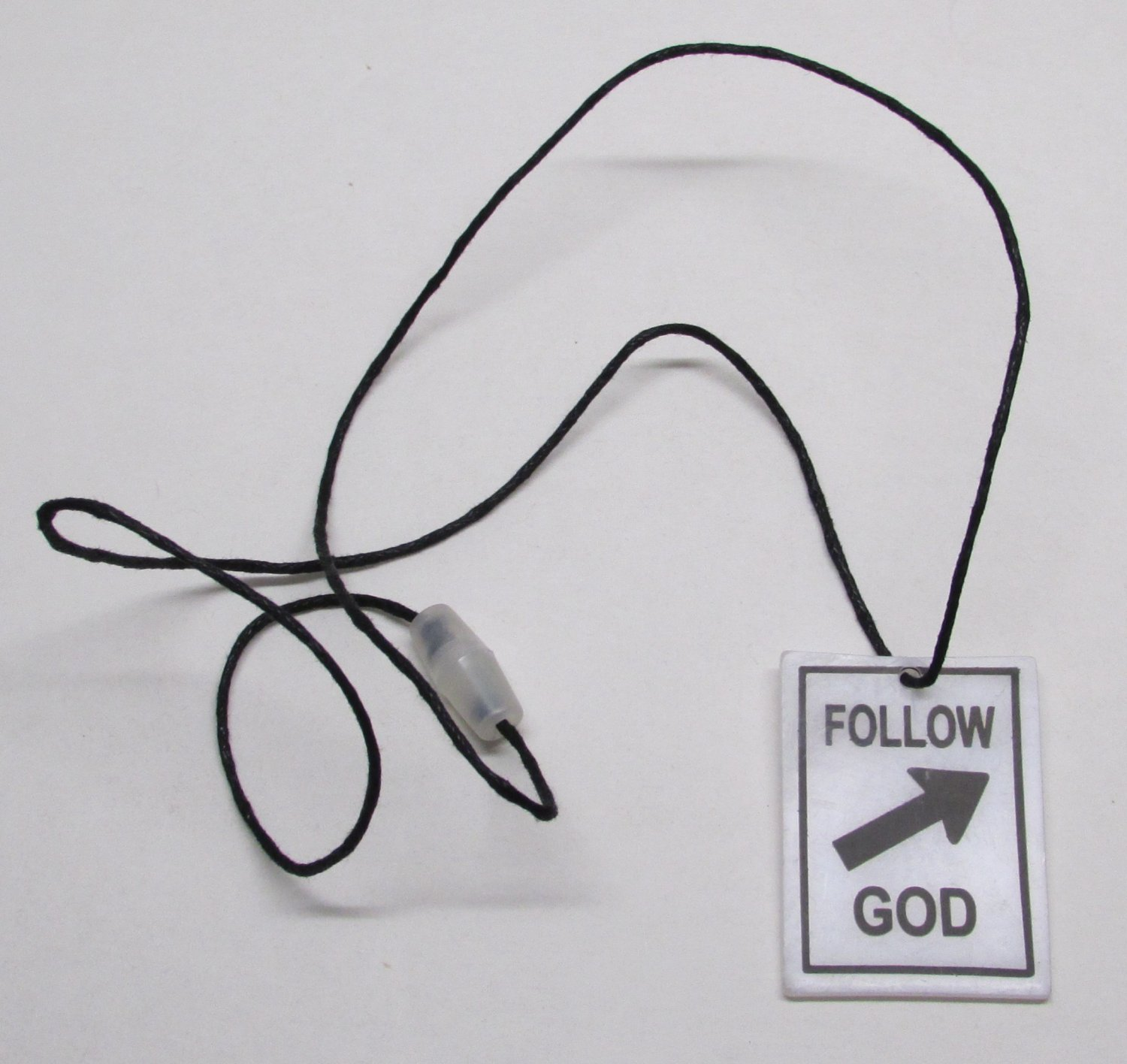 FOLLOW GOD Street Sign Unlatchable NECKLACE NEW