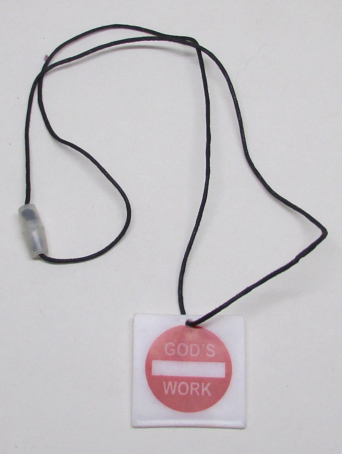 GODs WORK Street Sign Unlatchable NECKLACE NEW