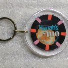 Harrahs Christening April 16 1994 $100 Casino CHIP KEY CHAIN Ring Keychain