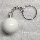 1 Inch CUE QUE Ball Mini Billiard Snooker POOL BALL Key Chain Ring Keychain NEW