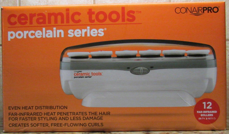 ConAirPRO 12pc piece Set Instant Heat Ceramic 12 Roller Hair Setter NEW