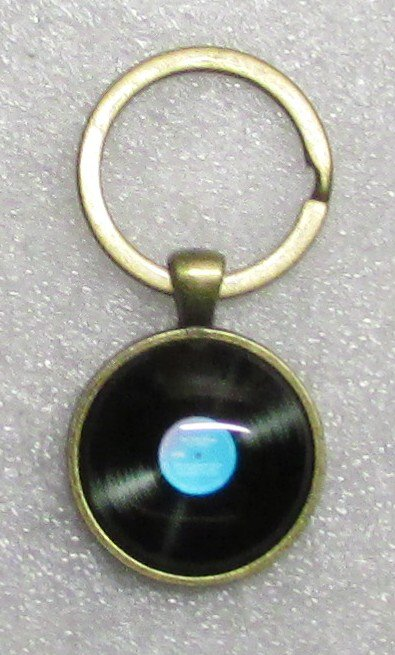 Blue VINYL LP Album 33 1/3 Phonograph Record Vintage KEY CHAIN Ring Keychain NEW