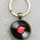 Red VINYL LP Album 33 1/3 Phonograph Record Vintage KEY CHAIN Ring Keychain NEW