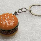 Cheeseburger Hamburger KEY CHAIN Ring Keychain NEW