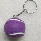 1.25 Inch Purple TENNIS BALL Plush KEY CHAIN Ring Keychain NEW