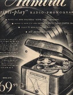 Magazine AD Admiral Radio Phonograph