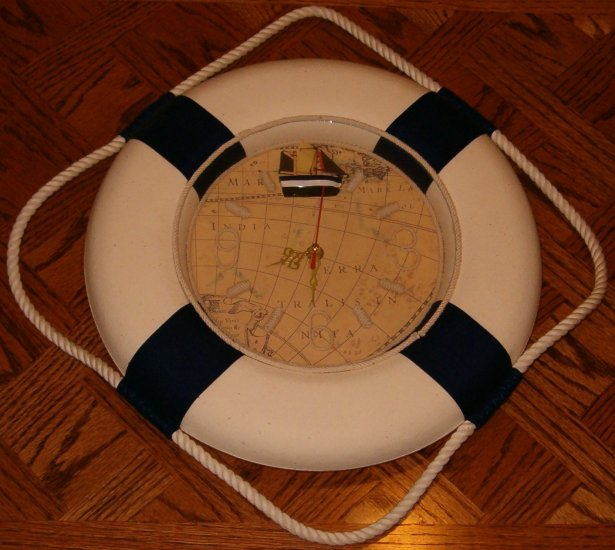 Nautical Lifering Clock