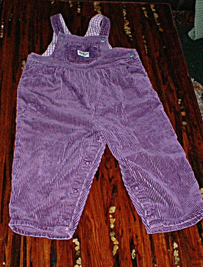 Oshkosh 24mth Purple Wide Leg Cord Overalls