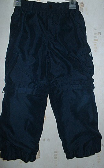 Size 4 5 Navy Blue Lined Cargo Style Zip-off Pants