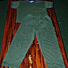 Boys Green Shirt and Pants Set Size 5T GUC