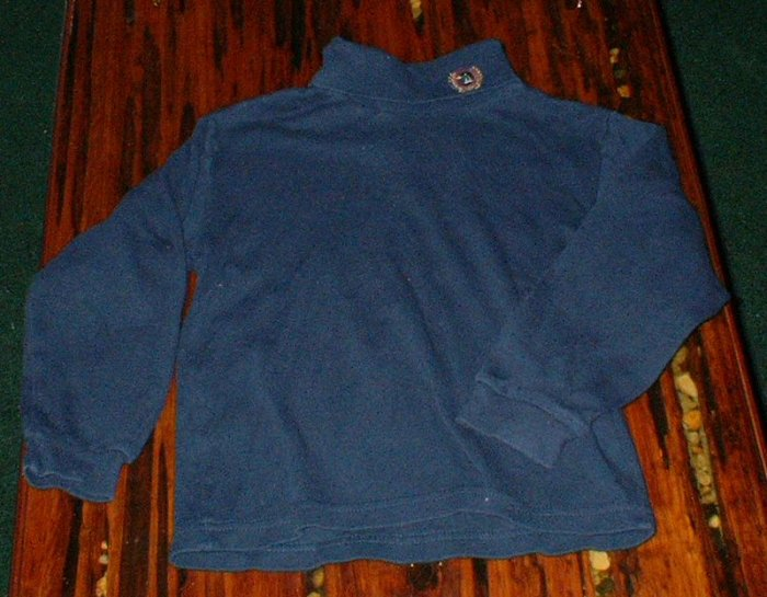Navy Blue Duckhead Turtleneck EUC Size 7 Large