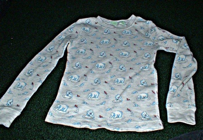 Boys Thermal Shirt with Polar Bear Print Size 8