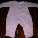 6-9mths Pink Quilted 1 Piece with Kitties