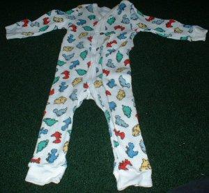 6-9mths Gerber Thermal Dino Print Pajamas