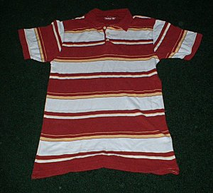 Mens LIKE NEW Vintage Fit Red White Polo size Small