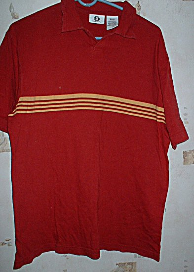 Guys Arizona Red Stripe Polo Shirt Size Medium