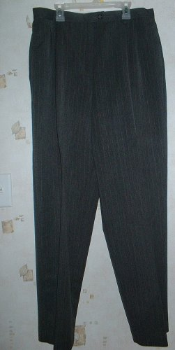 Worthington Size 16 Charcoal PinStripe Slacks