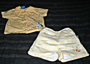 Blues Clues Button Down Shirt and Daisy Print Denim Skort 3T