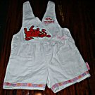 Clifford The Big Red Dog Overalls with Print Trim 3T