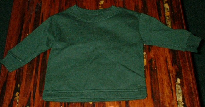 6-9mth Forest Green Sweatshirt VGUC
