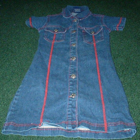 Girls 5/6 Denim Button Down Dress