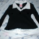 Girls Layerd Look Black Sweater Medium 6