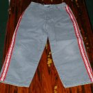 Boys 5 Mid Grey Pants with Red/White Stripes