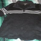 Womens Black Rib Knit Collared Sweater 22 24