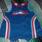 Boys Hawaiian Theme Cargo Romper LIKE NEW 12 Mths
