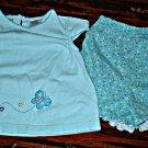 Girls 24 Mth 2 Piece Butterfly Shorts Set