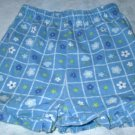 Girls 2T Blue Flowered Ruffled Shorts