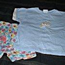 Girls Blue and Cream Shorts Set 3T