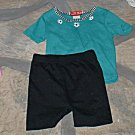 Girls Turquoise Top and Bike Shorts 3T