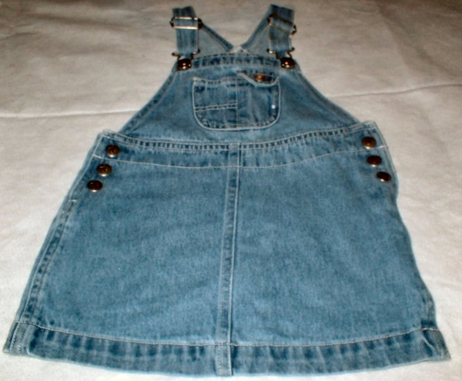 Girls 3T Denim Overall Jumper Dress