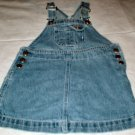 Girls 3T Denim Overall Jumper Dress