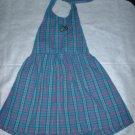 Girls 4 5 Blue and Pink Plaid Halter Dress