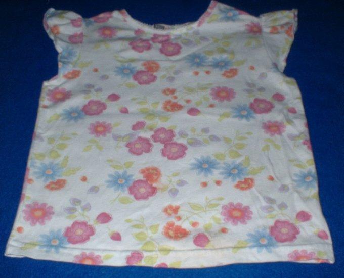 Girls 4T Flowered White Top