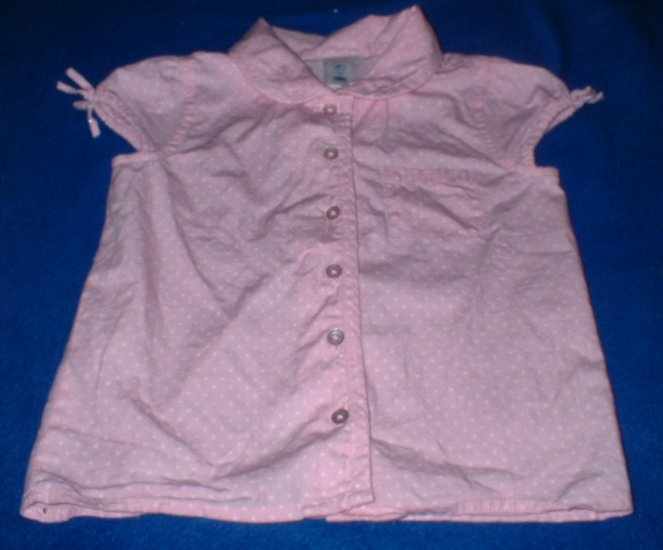 Girls 4T Pink Polkadot Summer Top
