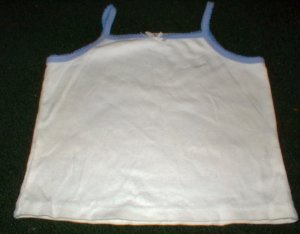 Girls Butterfly Knit White and Purple Tank 3T